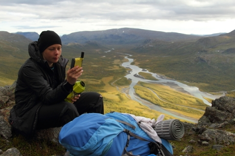 Again in Sarek National Park in September 2012.